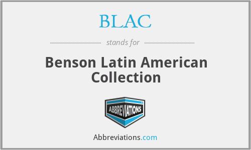 BLAC - Benson Latin American Collection