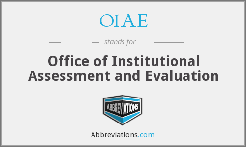 What does OIAE stand for?
