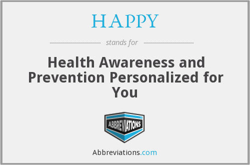 HAPPY - Health Awareness and Prevention Personalized for You