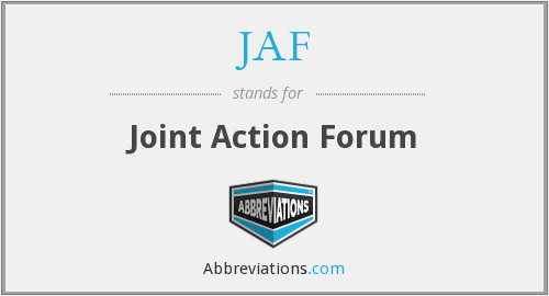 JAF - Joint Action Forum