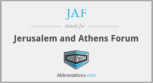 JAF - Jerusalem and Athens Forum