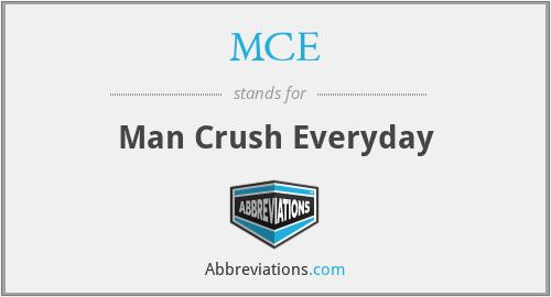MCE - Man Crush Everyday