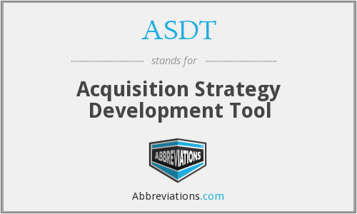 What does ASDT stand for?