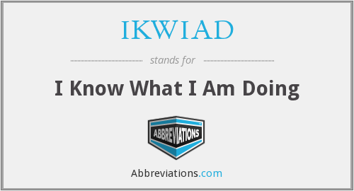 What does IKWIAD stand for?