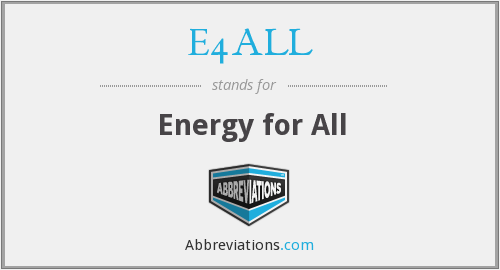 What does E4ALL stand for?