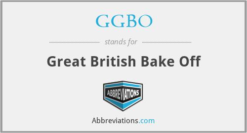 GGBO - Great British Bake Off