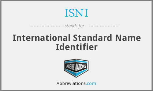 What does ISNI stand for?