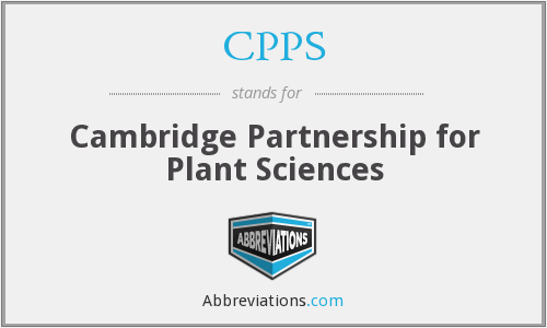 CPPS - Cambridge Partnership for Plant Sciences
