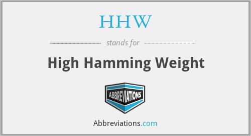 HHW - High Hamming Weight