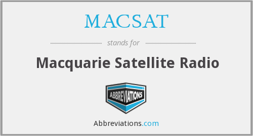 What does MACSAT stand for?
