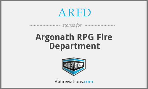 What does ARFD stand for?