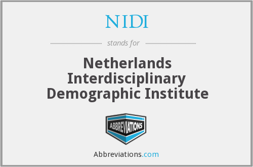 NIDI - Netherlands Interdisciplinary Demographic Institute