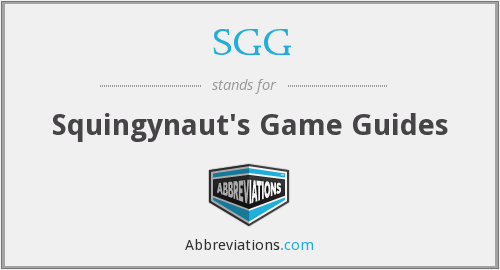 SGG - Squingynaut's Game Guides