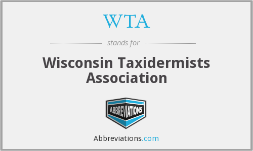 WTA - Wisconsin Taxidermists Association