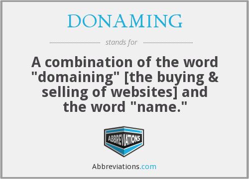 What does DONAMING stand for?