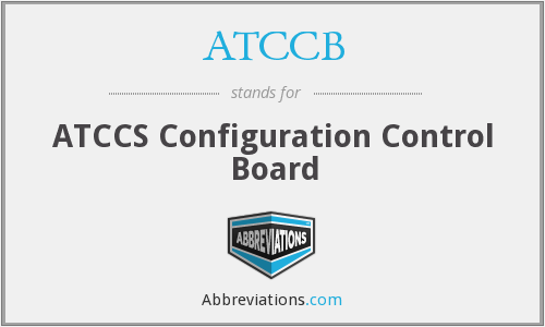 What does ATCCB stand for?