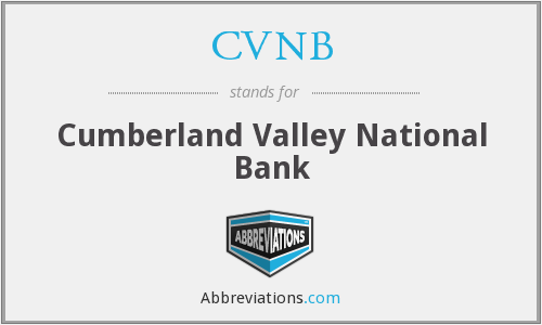 What does CVNB stand for?