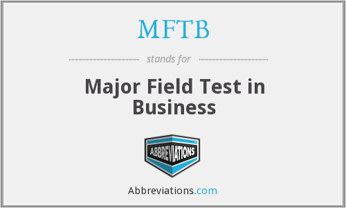 What does MFTB stand for?