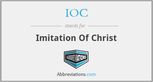 IOC - Imitation Of Christ