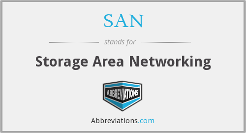 SAN - Storage Area Networking