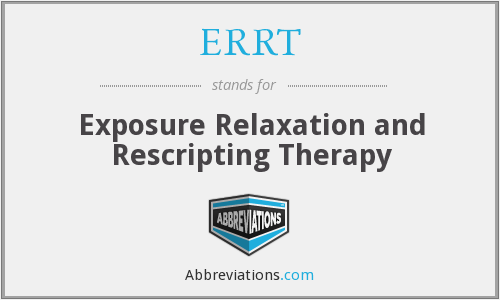 ERRT - Exposure Relaxation and Rescripting Therapy