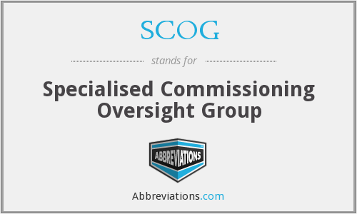 What does SCOG stand for?