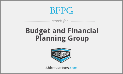 BFPG - Budget and Financial Planning Group