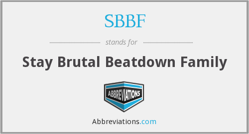 What does SBBF stand for?