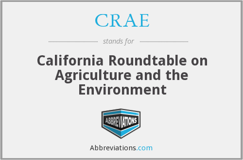 CRAE - California Roundtable on Agriculture and the Environment