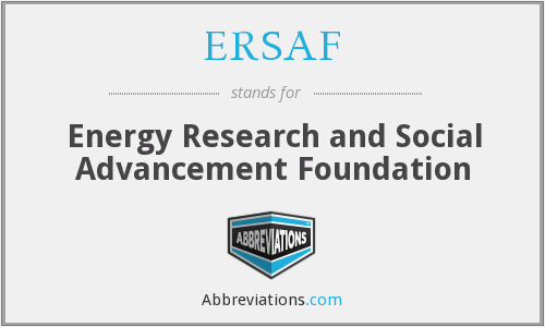 What does ERSAF stand for?