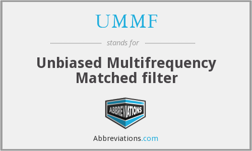 UMMF - Unbiased Multifrequency Matched filter