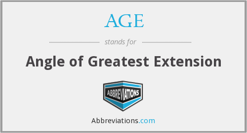 AGE - Angle of greatest extension