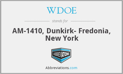 WDOE - AM-1410, Dunkirk- Fredonia, New York