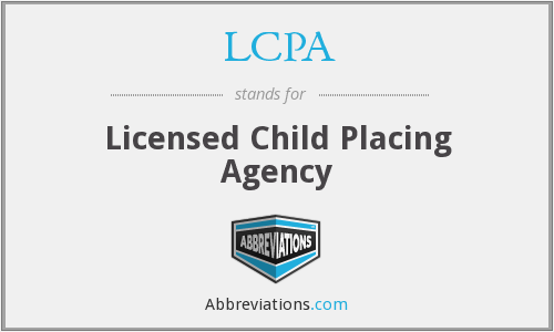 LCPA - Licensed Child Placing Agency