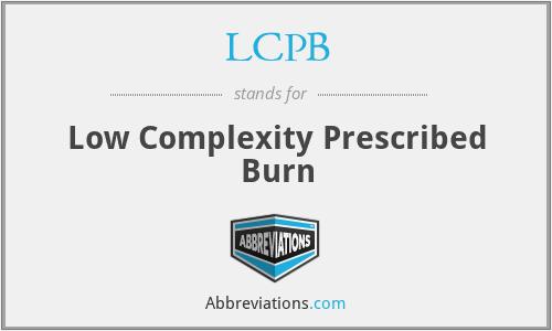LCPB - Low Complexity Prescribed Burn