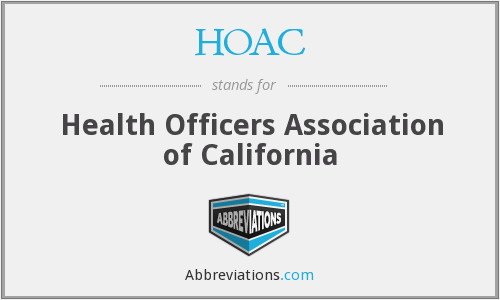 HOAC - Health Officers Association of California