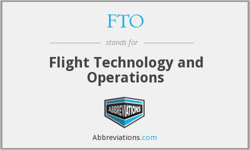 FTO - Flight Technology And Operations