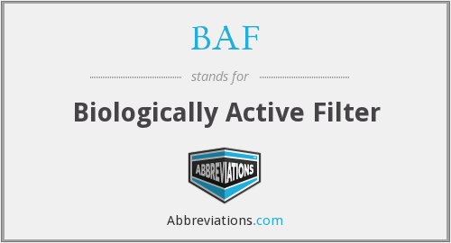 BAF - Biologically Active Filter