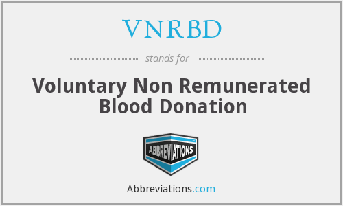What does VNRBD stand for?