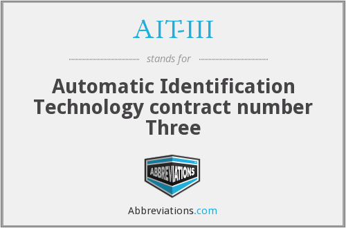 What does AIT-III stand for?