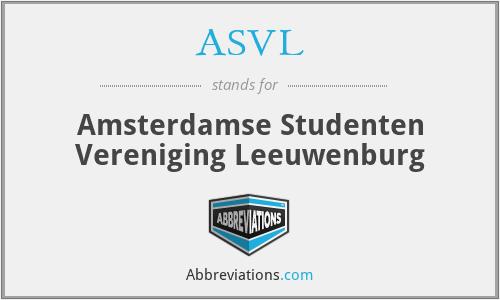 ASVL - Amsterdamse Studenten Vereniging Leeuwenburg