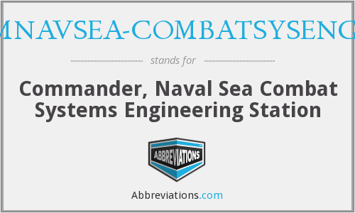 What does COMNAVSEA-COMBATSYSENGSTA stand for?