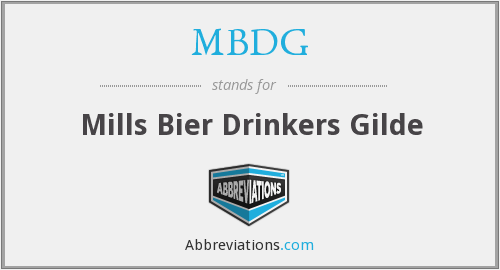 What does MBDG stand for?