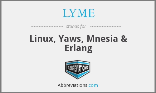 LYME - Linux, Yaws, Mnesia & Erlang