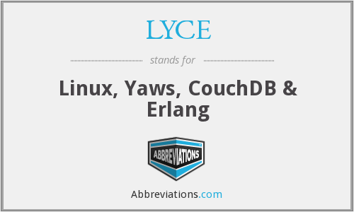 LYCE - Linux, Yaws, CouchDB & Erlang
