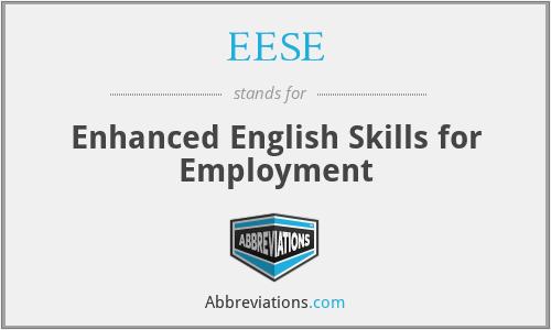 EESE - Enhanced English Skills for Employment
