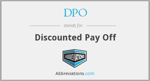 DPO - Discounted Pay Off