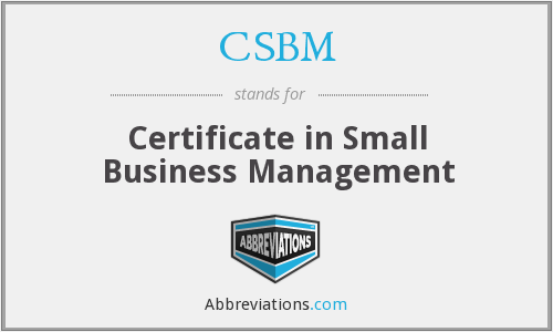 What does CSBM stand for?