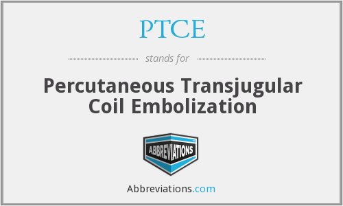 What does PTCE stand for?