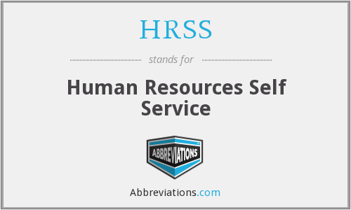 HRSS - Human Resources Self Service
